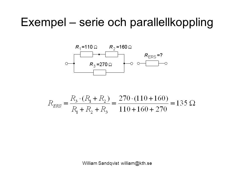 Exempel – serie och parallellkoppling