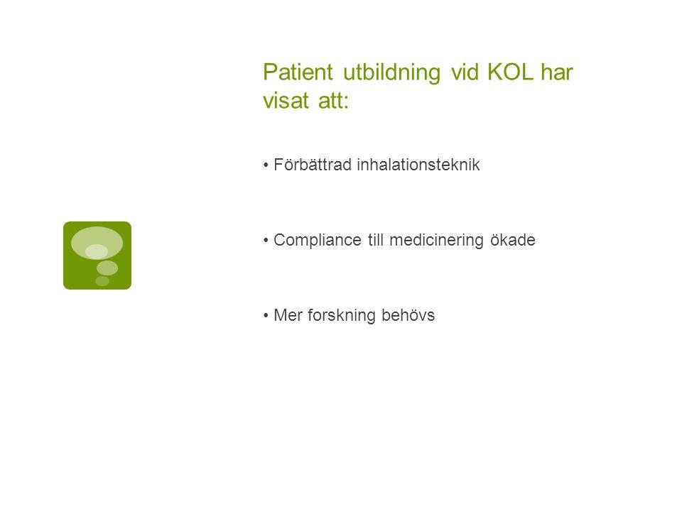 Patient utbildning vid KOL har visat att: