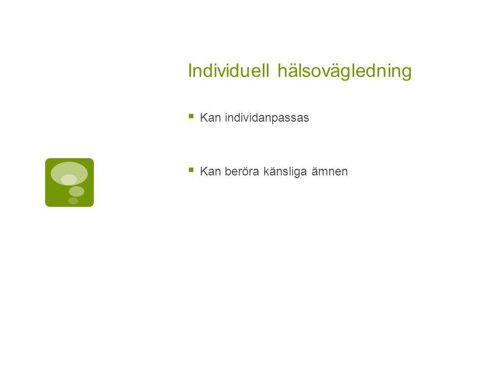 Individuell hälsovägledning