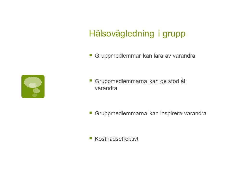 Hälsovägledning i grupp
