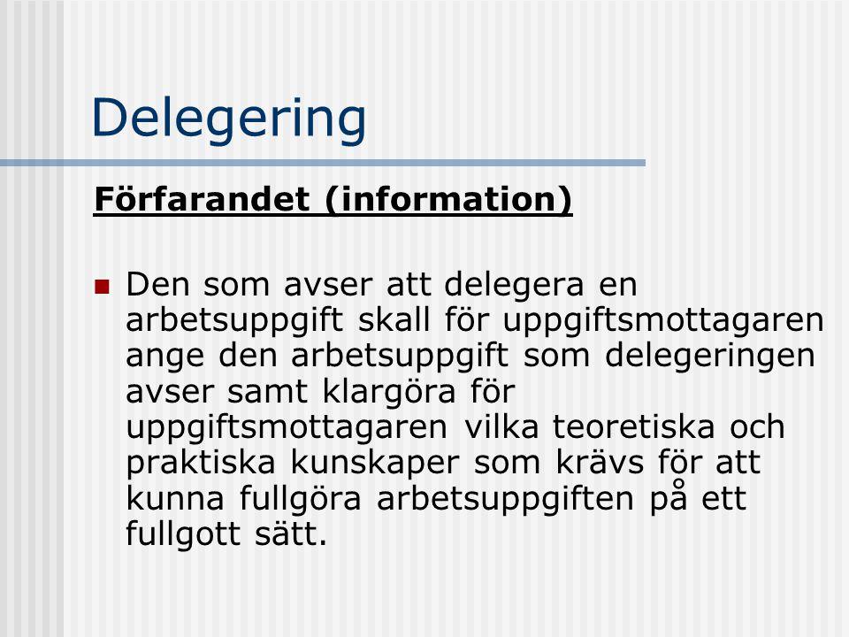 Delegering Förfarandet (information)