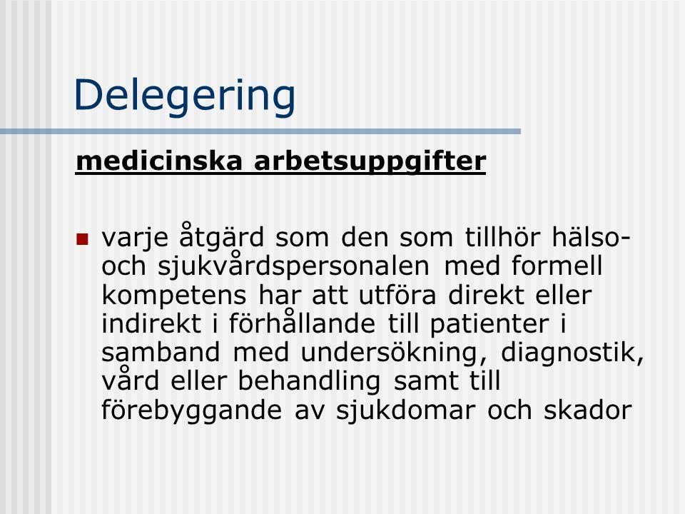 Delegering medicinska arbetsuppgifter
