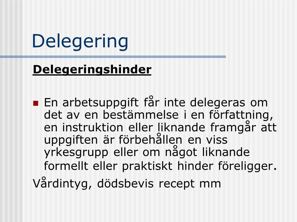 Delegering Delegeringshinder