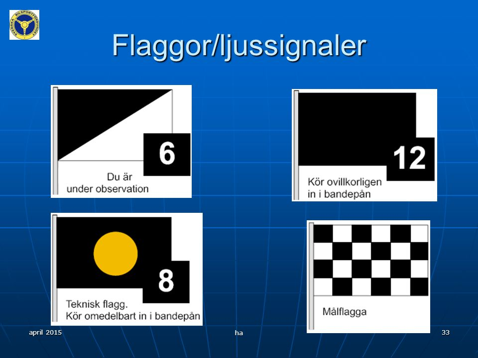 Flaggor/ljussignaler