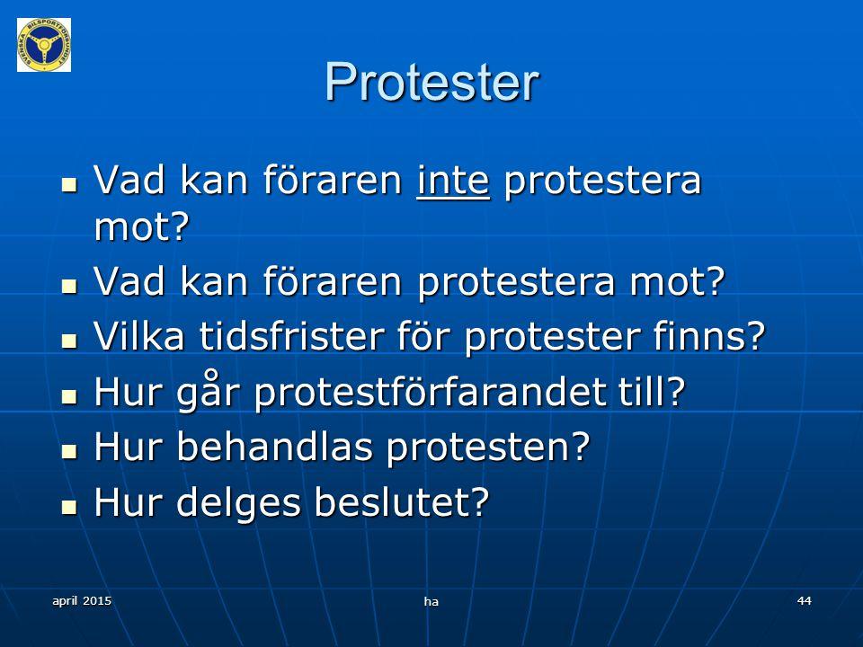 Protester Vad kan föraren inte protestera mot