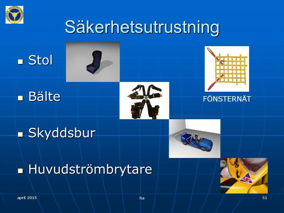 Säkerhetsutrustning Stol Bälte Skyddsbur Huvudströmbrytare FÖNSTERNÄT
