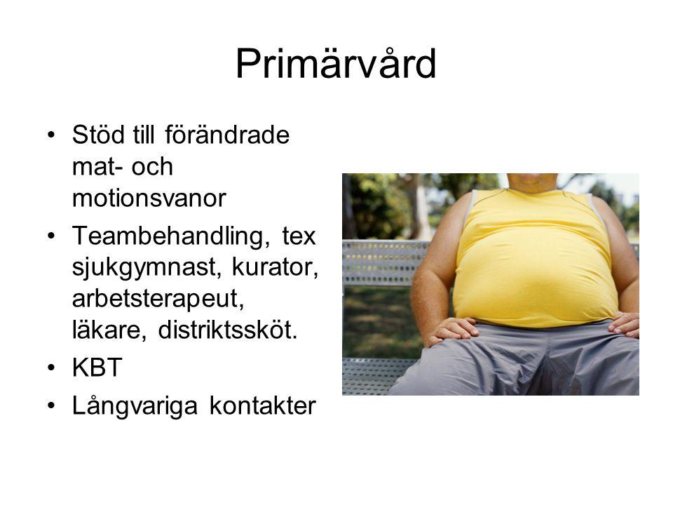 Primärvård Stöd till förändrade mat- och motionsvanor