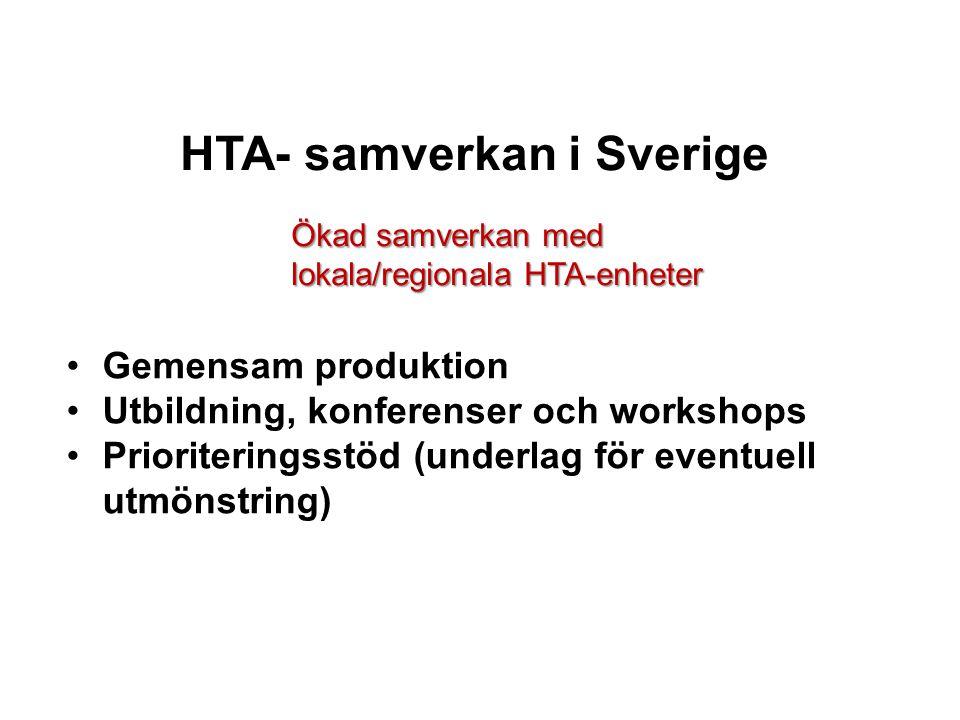 HTA- samverkan i Sverige