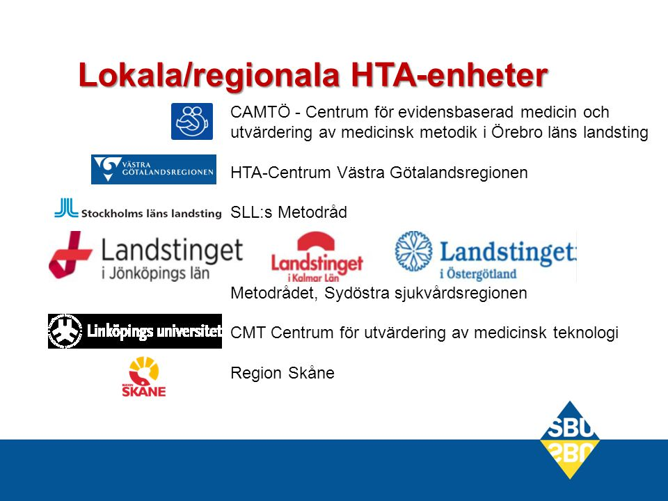 Lokala/regionala HTA-enheter