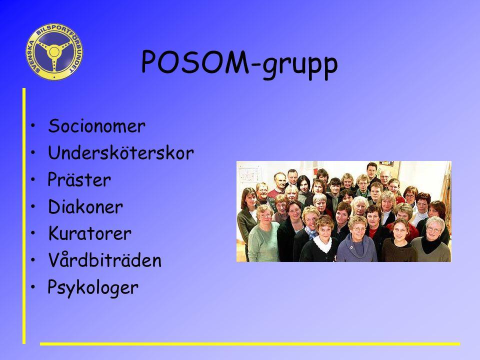 POSOM-grupp Socionomer Undersköterskor Präster Diakoner Kuratorer