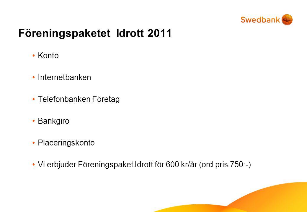 Föreningspaketet Idrott 2011