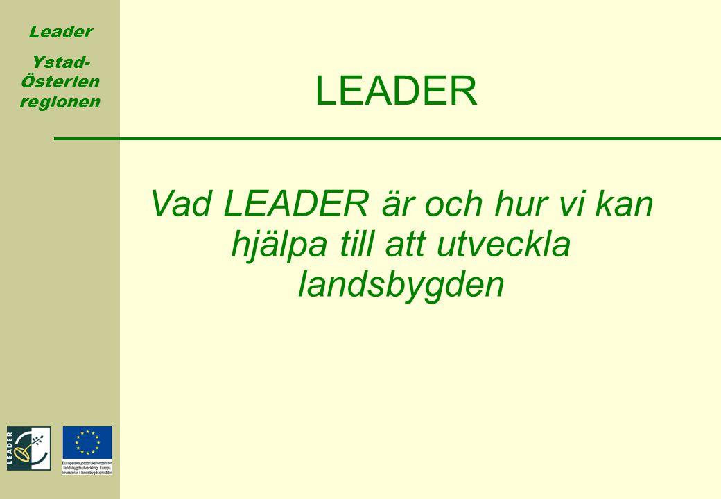Vad LEADER är och hur vi kan hjälpa till att utveckla landsbygden