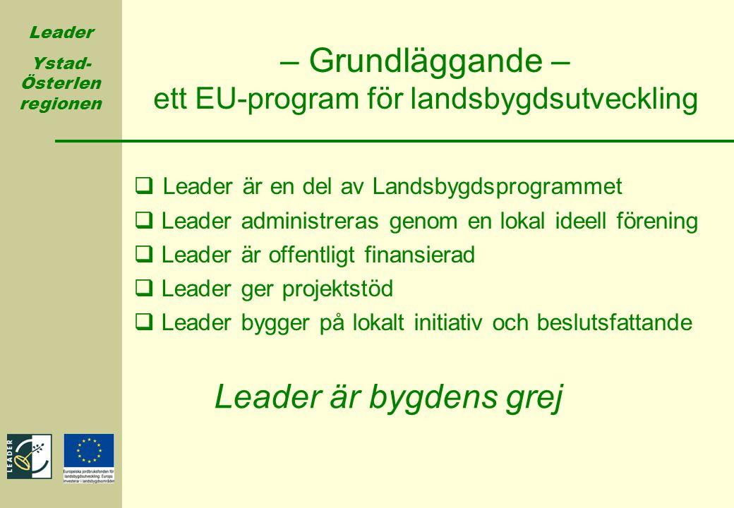 – Grundläggande – ett EU-program för landsbygdsutveckling