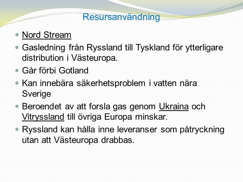 Resursanvändning Nord Stream