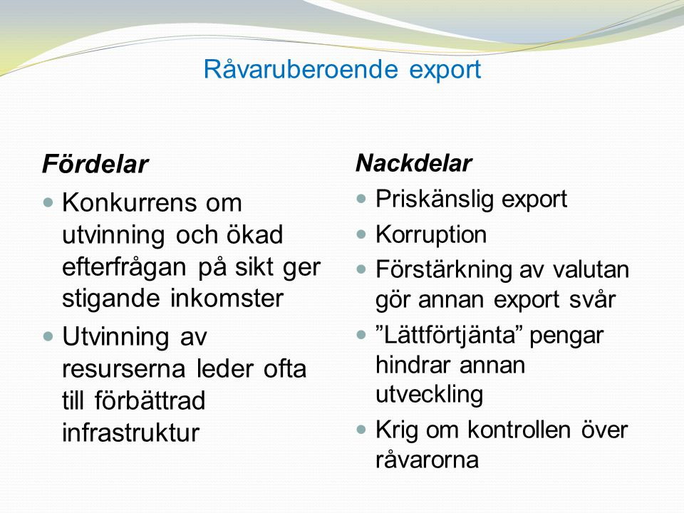 Råvaruberoende export