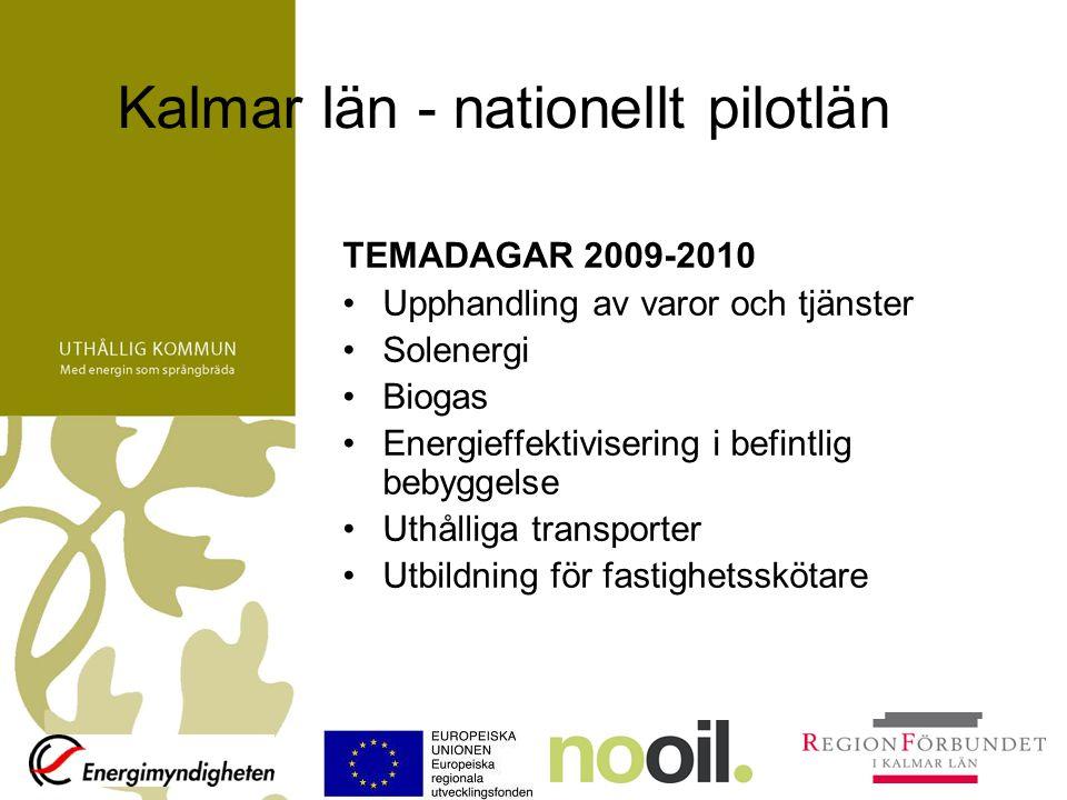 Kalmar län - nationellt pilotlän