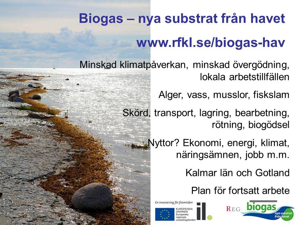 Biogas – nya substrat från havet www.rfkl.se/biogas-hav