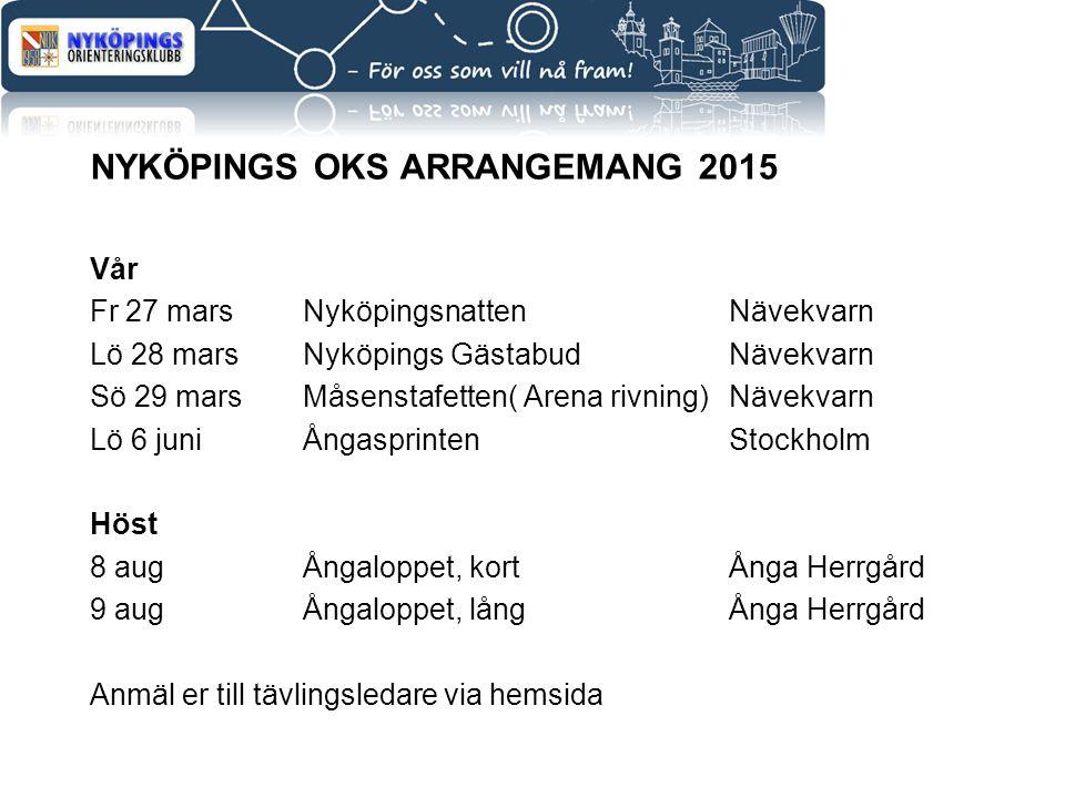 Nyköpings Oks Arrangemang 2015