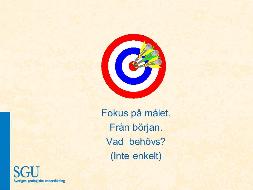 Fokus på målet. Från början. Vad behövs (Inte enkelt)
