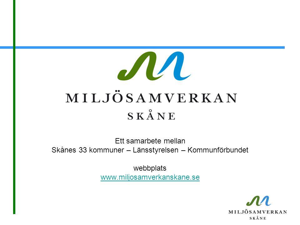 Skånes 33 kommuner – Länsstyrelsen – Kommunförbundet
