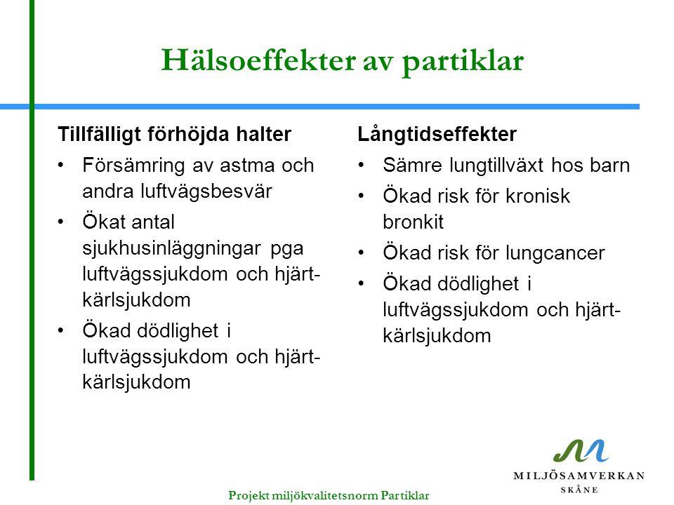 Hälsoeffekter av partiklar