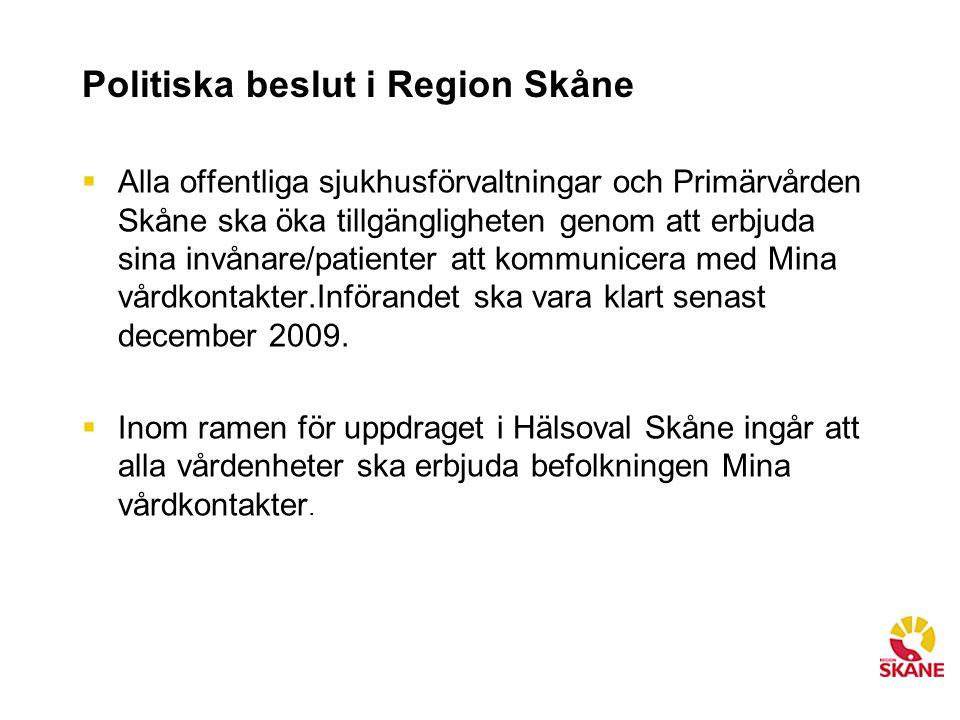Politiska beslut i Region Skåne