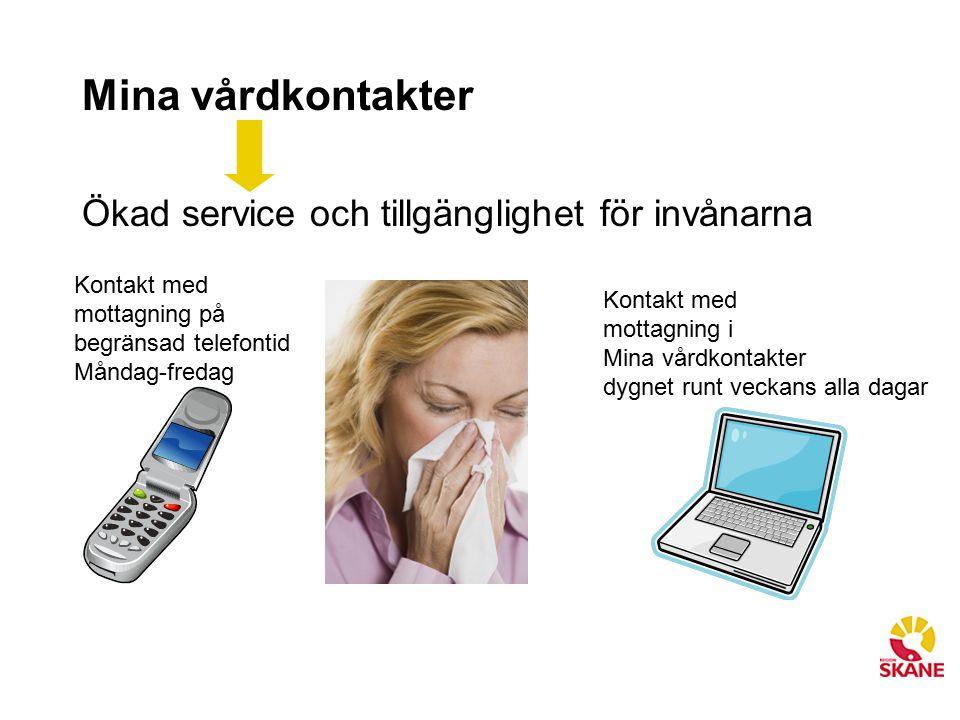 Mina vårdkontakter Ökad service och tillgänglighet för invånarna