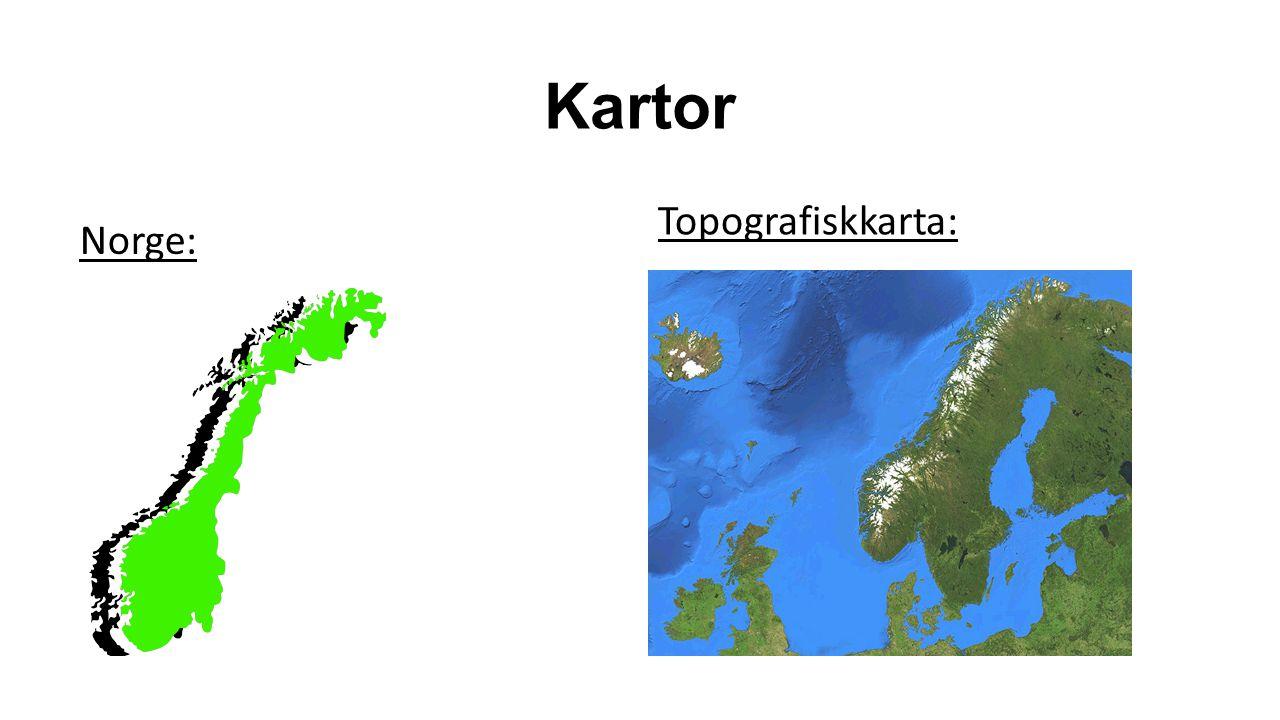 Kartor Topografiskkarta: Norge: