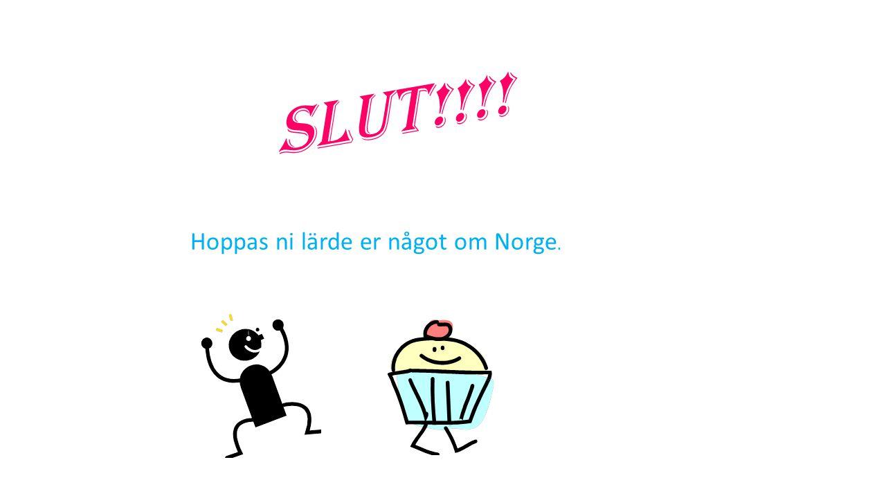 Slut!!!! Hoppas ni lärde er något om Norge.
