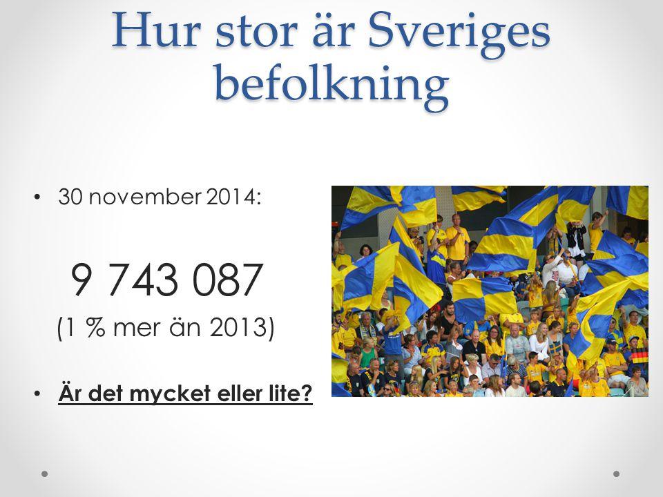 Hur stor är Sveriges befolkning