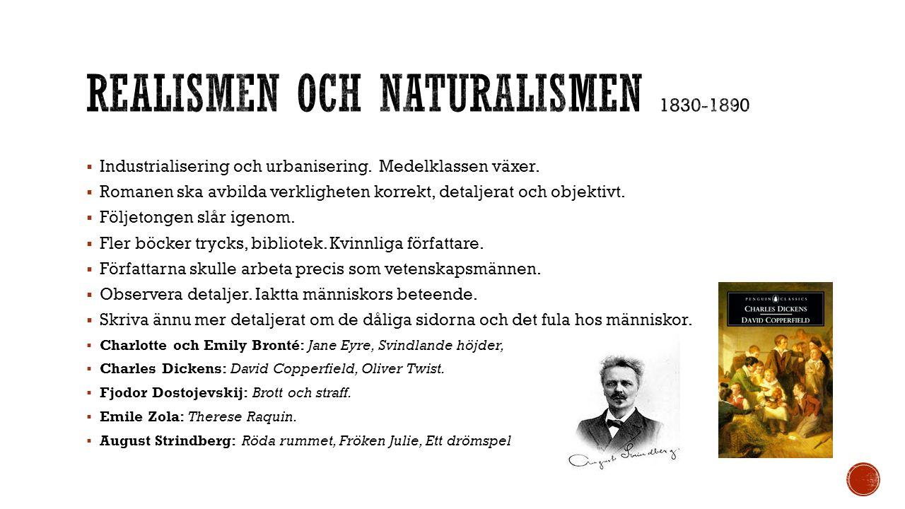 Realismen och naturalismen 1830-1890