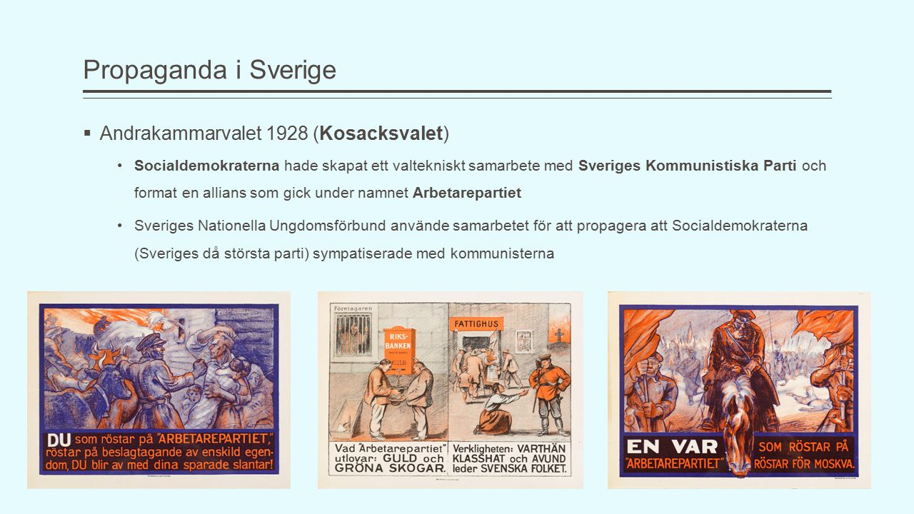 Propaganda i Sverige Andrakammarvalet 1928 (Kosacksvalet)