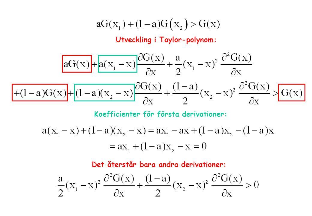 Utveckling i Taylor-polynom: