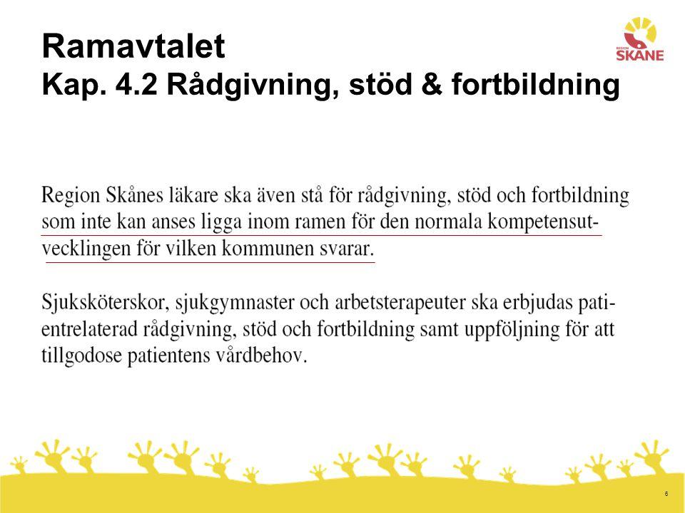 Ramavtalet Kap. 4.2 Rådgivning, stöd & fortbildning
