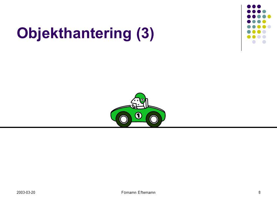 Objekthantering (3)