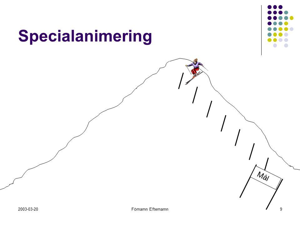 Specialanimering Din uppgift är att se till att slalomåkaren rör sig nedför pisten genom den snitslade banan bestående av 7 portar.