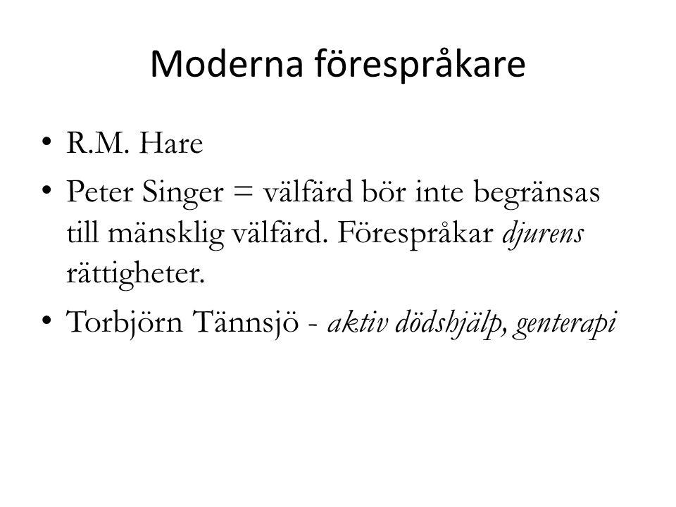 Moderna förespråkare R.M. Hare