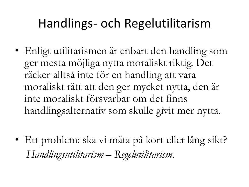 Handlings- och Regelutilitarism