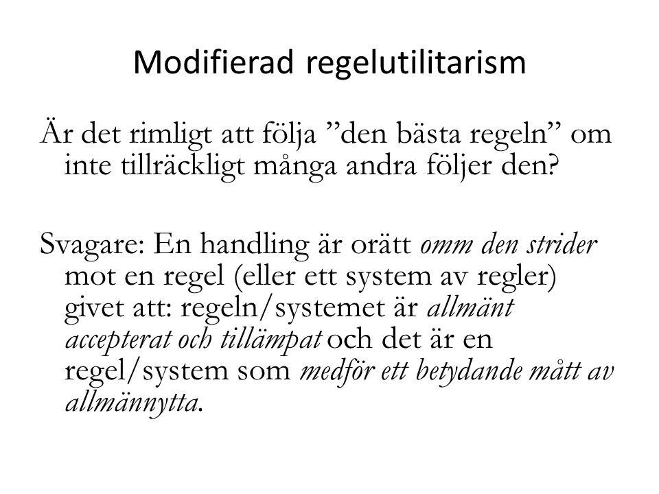 Modifierad regelutilitarism