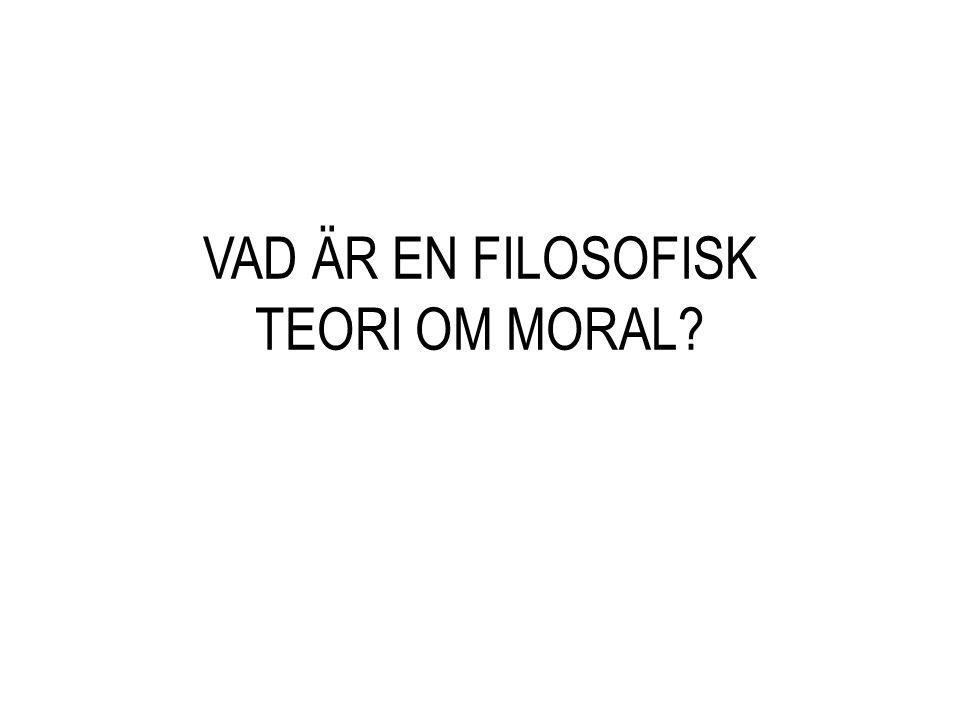 VAD ÄR EN FILOSOFISK TEORI OM MORAL