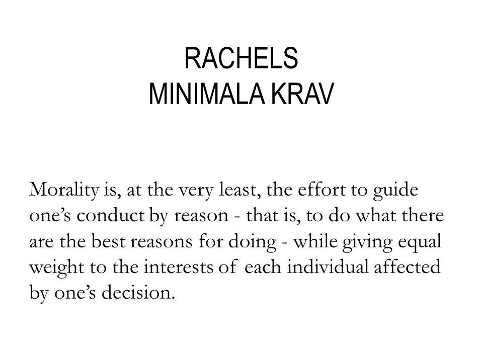 RACHELS MINIMALA KRAV