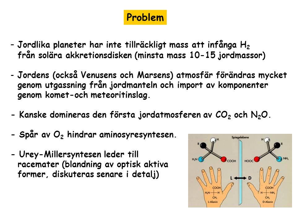 Jordlika planeter har inte tillräckligt mass att infånga H2