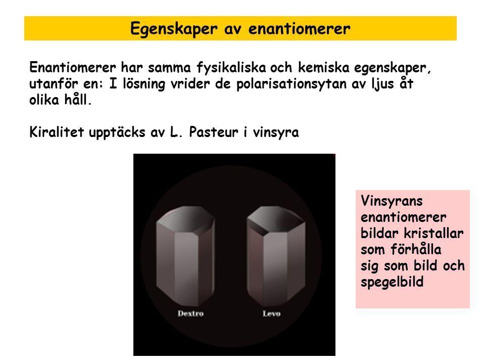 Egenskaper av enantiomerer