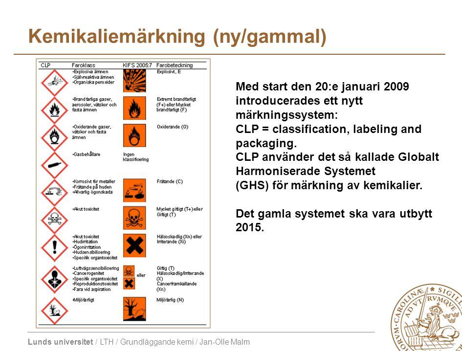 Kemikaliemärkning (ny/gammal)