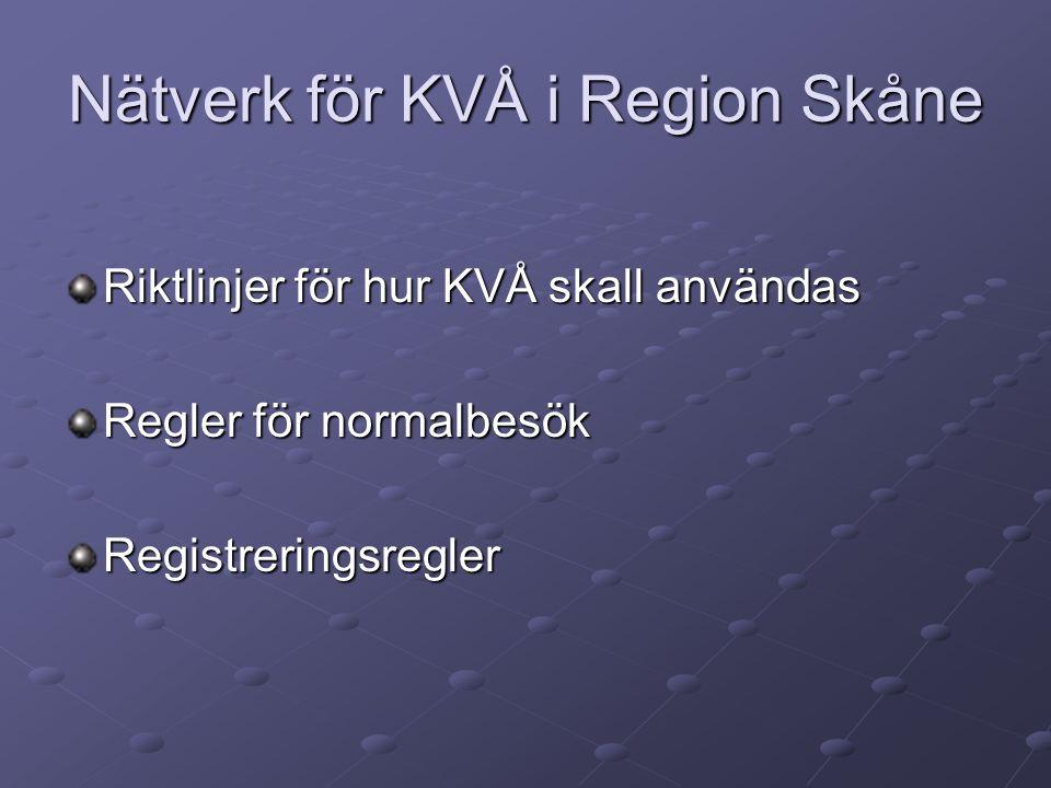 Nätverk för KVÅ i Region Skåne