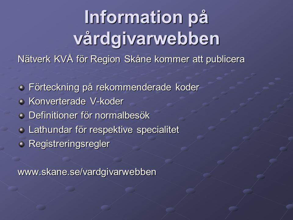 Information på vårdgivarwebben