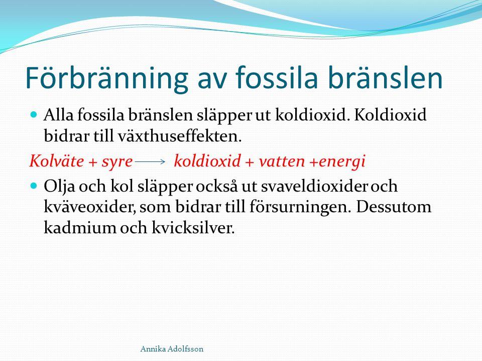 Förbränning av fossila bränslen