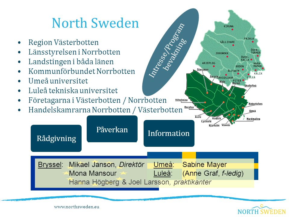 North Sweden Intresse/Program Region Västerbotten bevakning