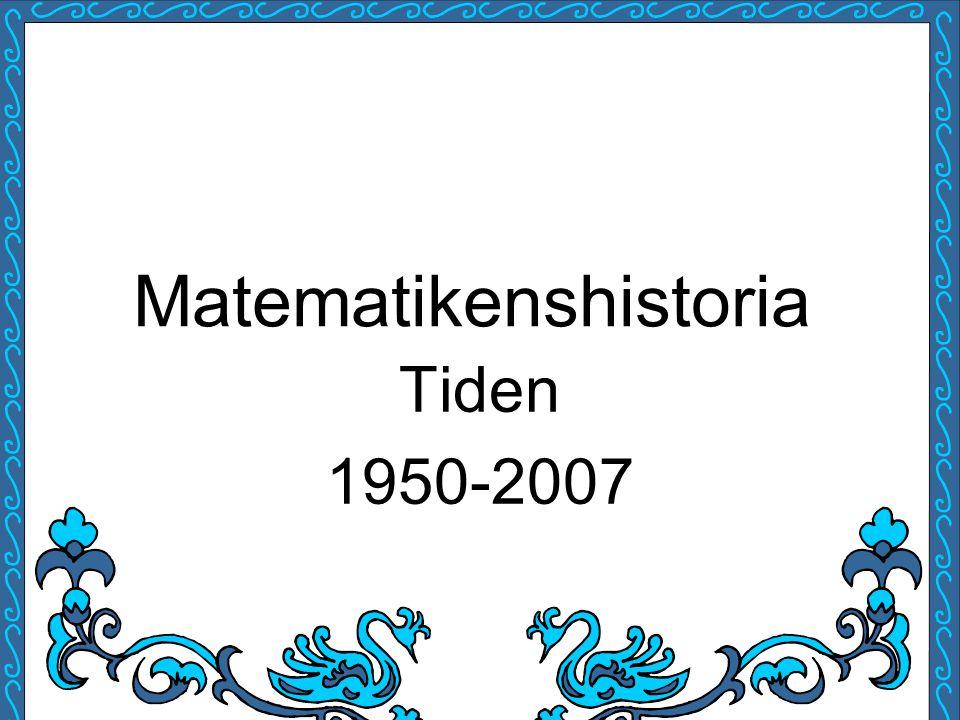 Matematikenshistoria