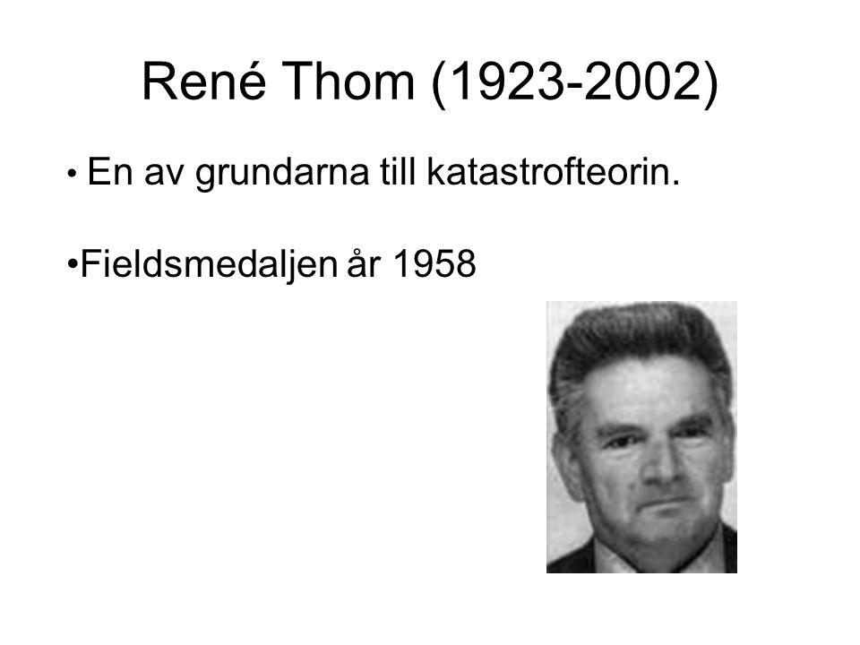 René Thom (1923-2002) Fieldsmedaljen år 1958